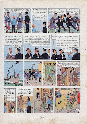 Tintin is framed, arrested by British police, and then rescued. Meanwhile an Irgun leader is mistakenly told that Goldstein has been captured.