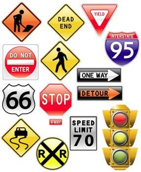 iconos de señales de transito