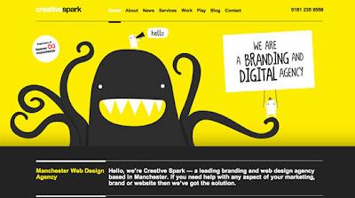 diseño web amarillo