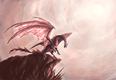 ilustracion digital de dragones