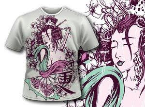 Camisetas colección de vectores