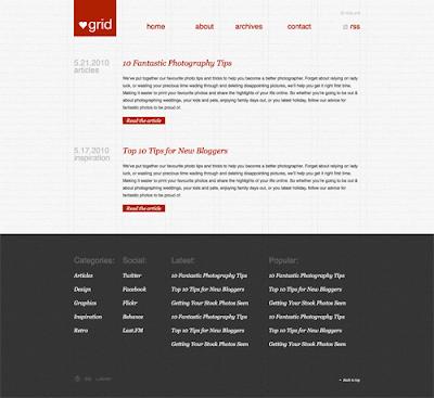 50 excelentes tutoriales PSD a HTML / CSS