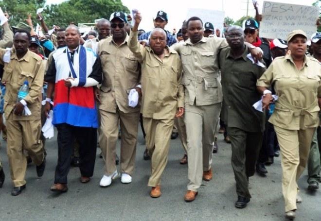 Baadhi ya viongozi wa Chama Cha Demokrasia na Maendeo (Chadema