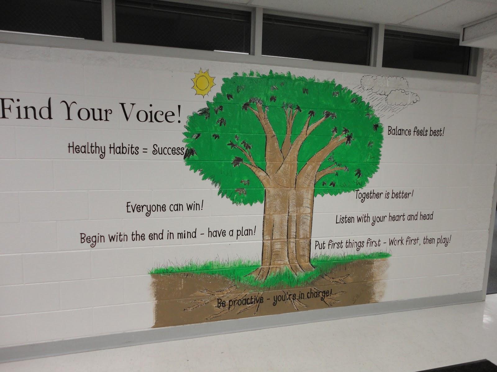 Leader in me oak grove school for 7 habits tree mural