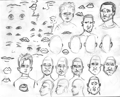 Sketches: Pushing Faces 1