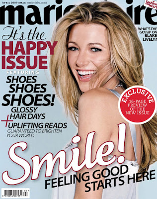 Gossip Girl actress Blake Lively is on the cover of British Marie Claire