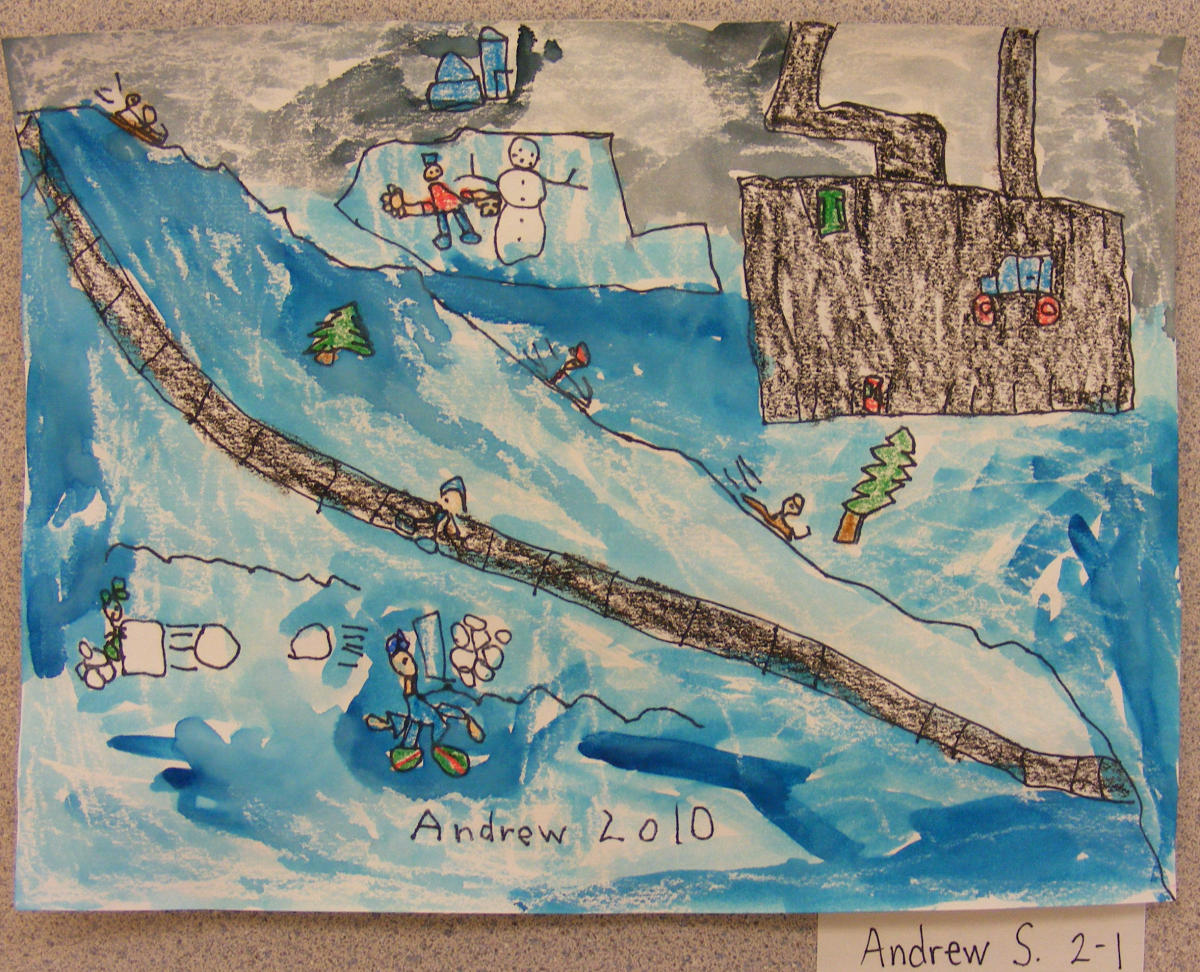 Winter Art Projects For Grade 2 Haunted House Writing