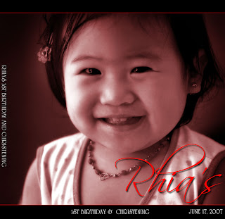 Rhia's firsy birthday bash album layout
