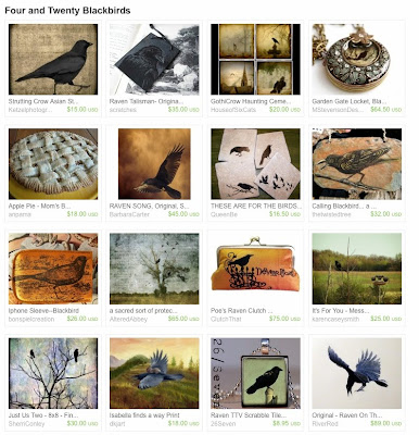 Etsy Treasury Four and Twenty Blackbirds