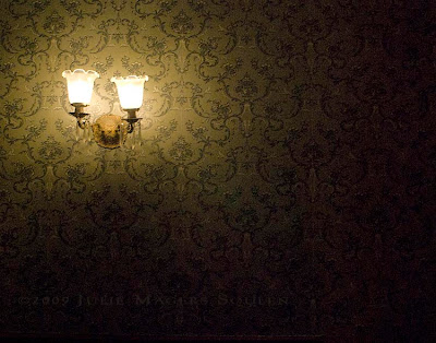 Hallway light at historic Stanley Hotel