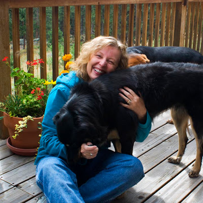 Julie Soulen and her dogs