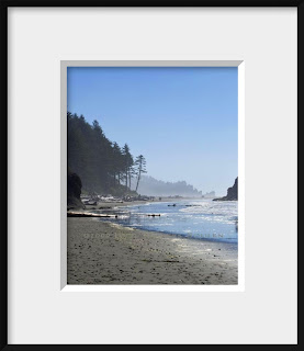 framed seascape at Olympic National Park coastline at Second Beach