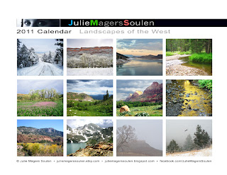 2011 Landscapes of the West Wall Calendar Back