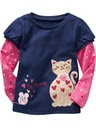 QN 03 GAP T-SHIRT BLUE CAT