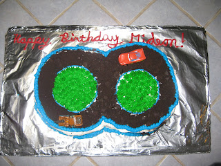 Cars Homemade Birthday Cake