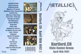 Metallica - 1992-04-16 - Hartford, CT (2xDVDfull aud-shot) new link