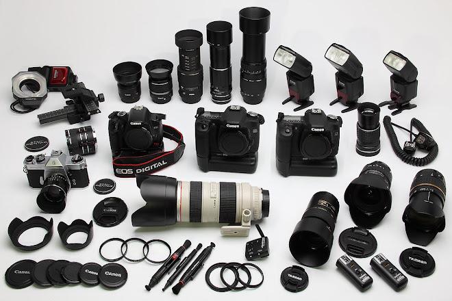 Parte de nuestro equipamiento fotográfico
