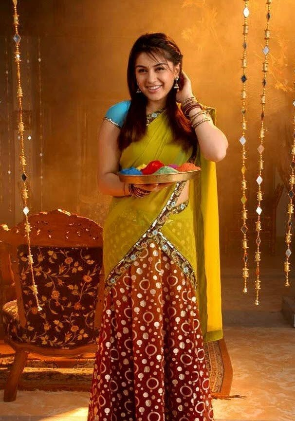 Latest Fashion Products Cute Half Sarees Models
