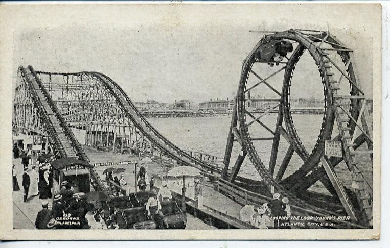 Vintage Postcard Blog Coney Island Roller Coaster