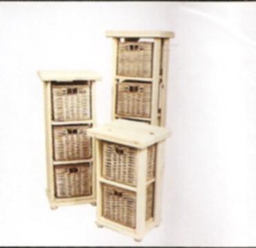 Hya muebles de pino pino y mimbre - Cajones de mimbre ...