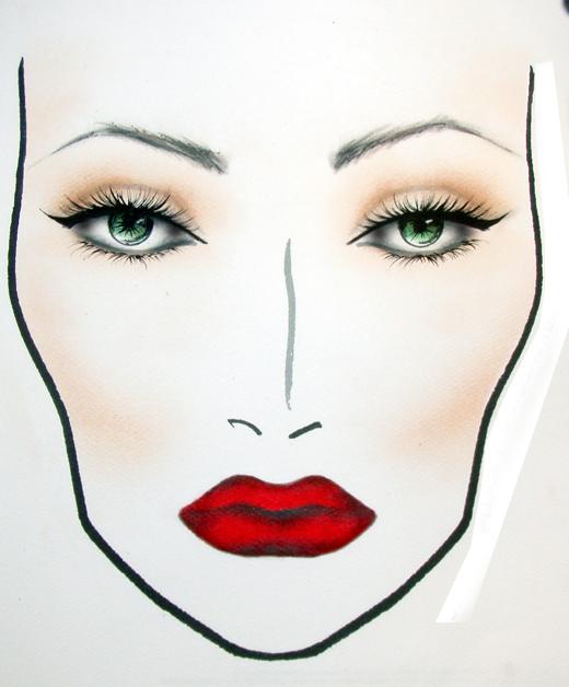 Wordeahibur Makeup Face Charts