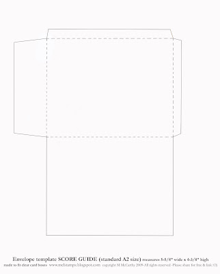 Mel Stampz New Envelope Templates Standard A Size Two Styles O