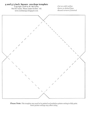 """4 and 3/4"""" square envelope"""
