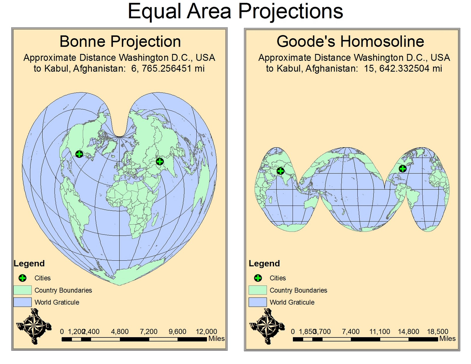 equal area map projection List of map projections the equal-area projection that results from average of sinusoidal and mollweide y-coordinates and thereby constraining the x coordinate.