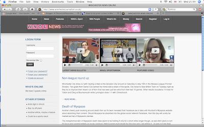 Winol, Winchester News Online, journalism