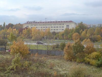 Снимка на една от сградите на БАН, гледана от прозореца на офиса