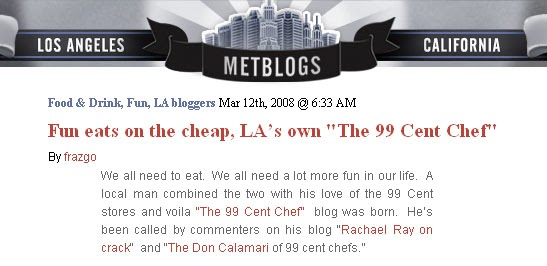 The 99 Cent Chef Everything You Wanted To Know About But Where Afraid Ask