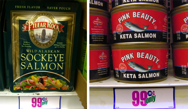 Salmon Package Canned or Packaged Salmon