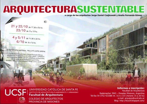 Facultad de arquitectura ucsf octubre 2010 for Cursos facultad de arquitectura