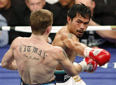 Pacman throws the surprising right hook