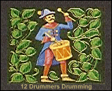 twelve drummers drumming