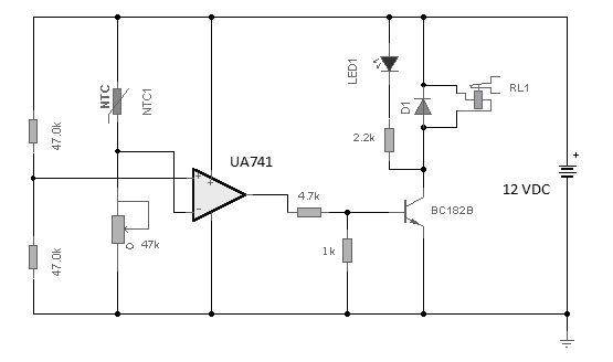 rangkaian pengendali kipas menggunakan temparatur