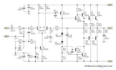 Rangkaian Amplifier 300 Watt