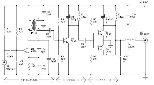 12 watt fm transmitter koleksi skema rangkaian artikel. Black Bedroom Furniture Sets. Home Design Ideas