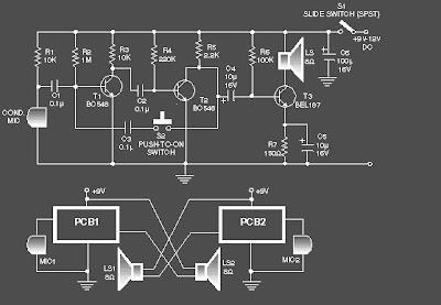 Rangkaian Intercom sederhana