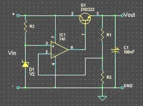 Regulator using Op-Amp