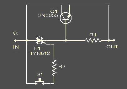 Simple electronic fuse