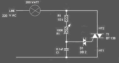 circuit of lamp dimmer regulator