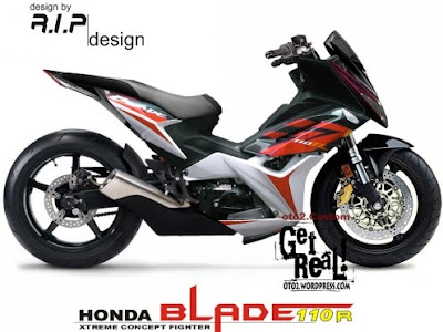 Honda+Blade+Fighter+modification Modifikasi Motor Honda Blade Sport Custom Balap Dragrace
