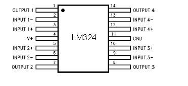 Lay out IC LM324