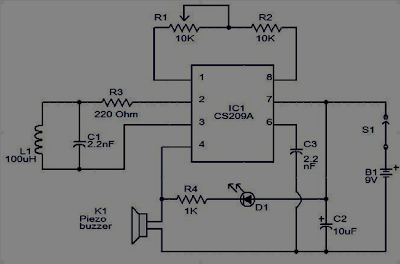 This is a metal detector circuit used IC CS209A .