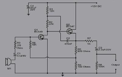 Pre-Amp mic 2 transistor