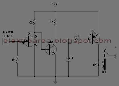Touch Switch Menggunakan 3 Transistor