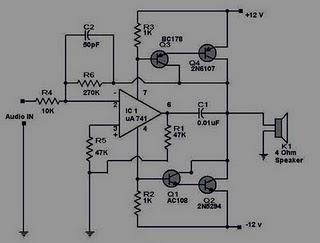 12 volt hifi power amplifier