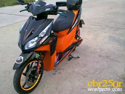 Modifikasi Honda Vario CBS Techno