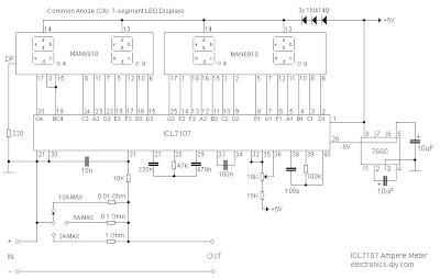 Rangkaian Ampere Meter Digital